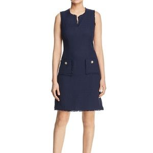 tonal tweed pocket dress by karl lagerfeld